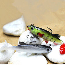 1x 8cm 14g Soft Plastic Lure With Lead Jig Head Tackle Sharp Hook Fishing Bait A