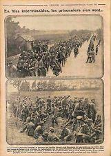 Files Prisonniers Feldgrauen Deutsches Heer Bataille d'Artois Champagne WWI 1915