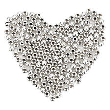 1000 Pack 4 mm Metal Spacer Beads Silver Plated Round Beads Tiny Smooth Beads