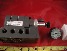 "Numatics 153RS131J000000 Pressure Regulator Base 3/8"" NPT Gauge 10-130psi New"