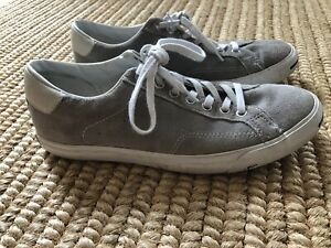 Converse Jack Purcell Light Gray Suede Sneakers Size 8.5 Men