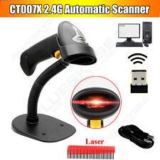 1D BarCode Lettore Manuali 2.4GHZ Laser Automatico laser Dello Scanner W/Base Fr