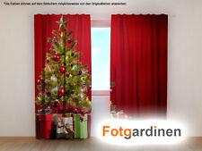 """Fotogardinen """"Weihnachtsbaum"""" Vorhang 3D Fotodruck, Foto-Vorhang, Maßanfertigung"""