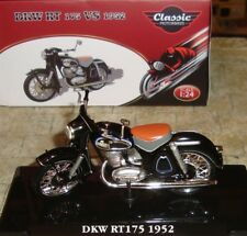 DKW RT 175 VS 1952 CLASSIC MOTORBIKE  - 1:24 - BOXED WITH DISPLAY STAND