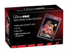 (200) Ultra-Pro SEMI RIGID Card Holders Flexible Sleeves Savers