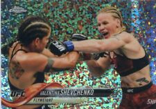 2018 Topps UFC Chrome VALENTINA SHEVCHENKO Diamond Hot Box Refractor Card #91