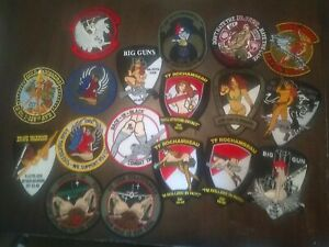 18 assorted risque nudity squadron style patches Desert Storm OIF OEF