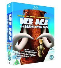 ICE AGE 1-4 + MAMMOTH CHRISTMAS COLLECTION BLU-RAY 5 DISCS BOX SET REG B SEALED