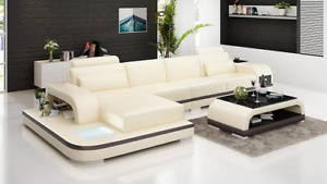 Corner Sofa Lform Coffee Table Leather Designer Couch Pads 2tlg New