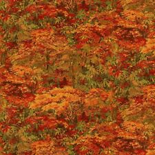 Floral Fabric - Naturescapes Abundant Garden Autumn Fall Leaf - Northcott YARD