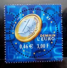 SELLOS FRANCIA 2001 3402 EL EURO 1v.