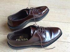 PRADA Chaussures Derby en cuir - Leather shoes schoenen - T: 6 - Authentique