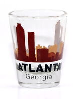 ATLANTA GEORGIA SUNSET SKYLINE SHOT GLASS SHOTGLASS