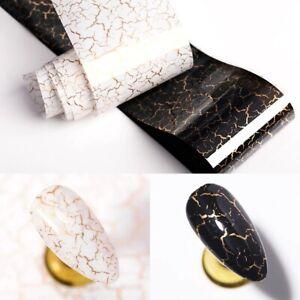 GOLDEN DESERT NAIL ART FOIL BLACK WHITE TRANSFER NAILS STICKER FOILS UK