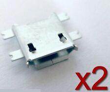 2x connecteur à souder micro USB type B femelle / 2x female connector to solder