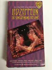LED ZEPPELIN The Song Remains the Same In Concert and Beyond VHS VIdeo Cassette