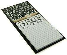 Vintage Quote Design Magnetic Memo Pad & Pencil Fridge Magnet Shopping List