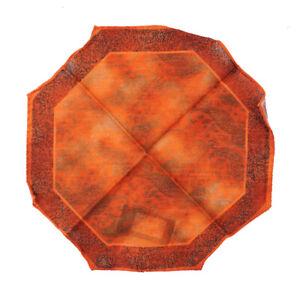 NWT RODA Orange Paisley Print Lightweight Wool-Silk Octagonal Pocket Square