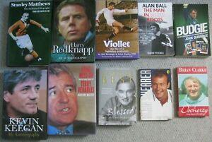 FOOTBALL Autobiographies: Job Lot Of 10 Books - Keegan/Viollet/Matthews(signed)