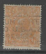 AUSTRALIA SG85 1927 ½d ORANGE USED