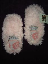 MUK LUKS WOMENS  XL PINK LUCIA FAUX FUR SCUFF SLIPPERS SOLD OUT WOW CUTE! NWT