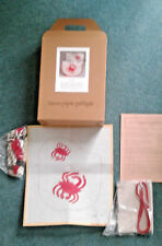 Needlepoint Kit BROWN PAPER PACKAGES Vintage RED CRAB Purse kit