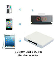 Bluetooth 4.0 APTX Stereo Music Audio Receiver Adapter For iPhone 30Pin Speaker