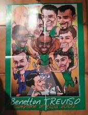 MAXI Poster BENETTON TREVISO - CAMPIONE D'ITALIA 2001/2002 - SUPERBASKET