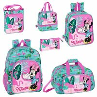 Disney Minnie Mouse Flamingo Backpack School Bag Travel Rucksack Kids Lunch Bag