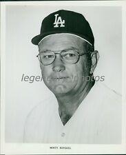 1980's Monty Basgall Los Angeles Dodgers Infield Coach Original Press Photo