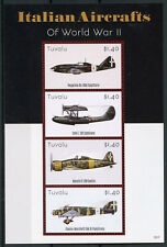 Tuvalu 2015 MNH WWII WW2 Italian Aircrafts World War II 4v M/S Aviation Stamps