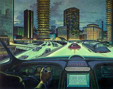 "Retro Futurism Art  11 x 14""  Photo Print"