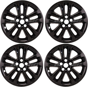 "17"" GLOSS BLACK Wheel Skins / Hubcaps (Set of 4) FOR 2020-2022 Ford Escape SE"