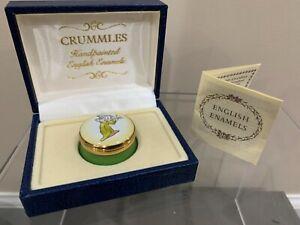 CRUMMLES ENAMEL BOX DISNEY SNOW WHITE DOPEY DWARF MINT ENGLISH ENAMELS RARE