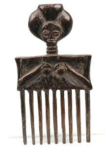 Art Africain Tribal Ethnique - Superbe Peigne Ashanti - African Comb - 21 Cms ++