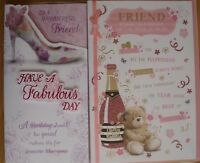 Special Friend Wonderful Friend Lovely Friend birthday card ~ various designs