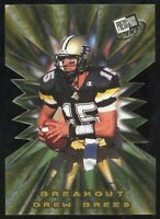 2001 Press Pass Drew Brees Rookie Die-Cut Breakout Performers Saints Chargers RC