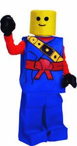 Dress Up America Halloween Kids Toy Lego Block Ninja Man Costume Outfit Blue
