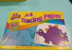 A4 Tracing Paper. 60 Sheet Pad. Copy And Trace Kids Art And Craft Drawing school