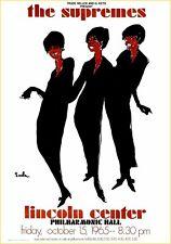Supremes 1965 - Concert VINTAGE BAND POSTERS Rock Travel Old Advert #ob