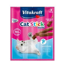 NEW 3pcs Vitakraft Cat Stick Mini Salmon & Trout 18g - Made in Germany