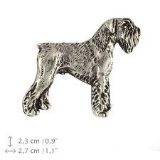Schnauzer body, silver covered pin, high quality Art Dog USA