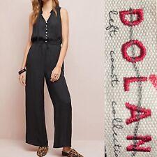 NWOT Anthropologie Dolan Black Jumpsuit Size XSP