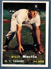 Billy Martin 1957 Topps New York Yankees Card # 62 NR-MT