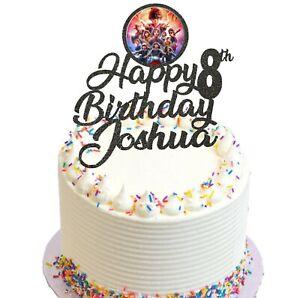 Stranger Things Themed Birthday Glitter Cake Topper