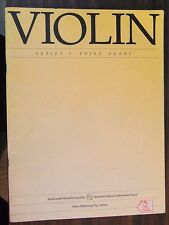Violin, Series 5, Third Grade by Allan's Music Australia 1985 pb used