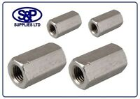 A2 STAINLESS STEEL THREADED BAR/ ROD /STUDDING HEX CONNECTOR M5 TO M24 DEEP NUT