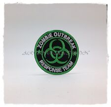 Zombie Outbreak Response Team Sew Iron On Patch Embroidered Biohazard Transfer
