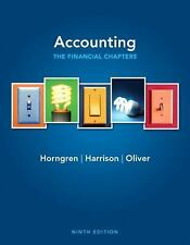 Accounting, Chapters 1-15 (Financial chapters) (9th Edition), Oliver, M. Suzanne