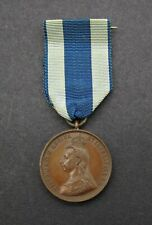 1897 VICTORIA DIAMOND JUBILEE BRONZE MEDAL ON RIBBON CASED - BY EMPTMEYER